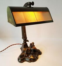 Art Deco Pierrot Playing Mandolin desk reading Light Mint Conditions