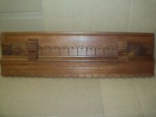 ANTIQUE ARCHITECTURAL PEDIMENT EASTLAKE VICTORIAN SCALLOPED CARVED BURL HEADER