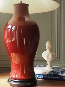 Important 19th Century Sang de Boeuf Oxblood Langyao Lamp Vase Porcelain Red