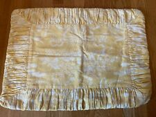 CUSTOM PALE YELLOW/GOLD TOILE  PLEATED  PILLOW COVERS WITH COVERED ZIPPER. TWO