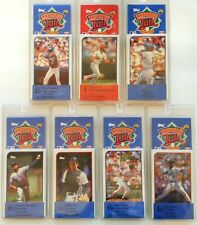 1989 TOPPS BASEBALL TALK CARDS LOT OF 7 SEALED SETS # 4,16, 18, 20, 22, 28, 34