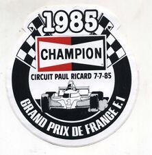 Adesivo Formula 1 GRAND PRIX DE FRANCE Paul Ricard 1985 CHAMPION F1 sticker