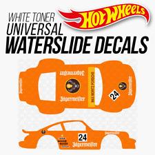 Hot Wheels PORSCHE JAGERMEISTER White Toner Universal WaterSlide Decal 1/64
