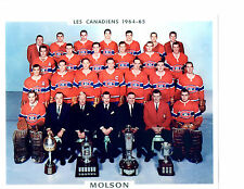 1964 1965 MONTREAL CANADIENS 8X10 TEAM PHOTO HOCKEY NHL CANADA