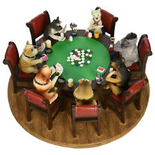 The Classic Poker Playing Dogs Hand Painted Sculpture