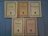 Partitions-Orchestre-Violon X5 Weber-Vivaldi-Dvorak-Boccherini-Schaikowsky 1958