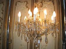 ANCIEN LUSTRE VENITIEN EN VERRE ET CRISTAL STYLE MARIE-THERESE-12 LAMPES-N°FL33