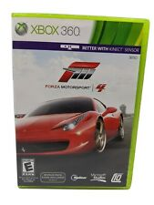 Forza Motorsport 4 (Microsoft Xbox 360, 2011) Tested & Working Complete