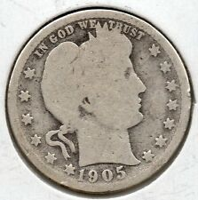 Nice Early Year 1905  Barber Quarter Great Collector Coin Buy it Now