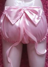 """🌸MADE TO ORDER* """"SATIN SISSY"""" Knickers with  large bow to bum & ribbon trails🌸"""