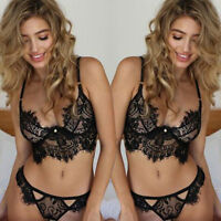 Sexy-Lingerie Nightwear Underwear G-string Babydoll Women Lace Bra Sleepwear Set