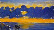 Matthias Hickel Hickel-Lopez Original Aquarell Impression de la Palma Aquarell