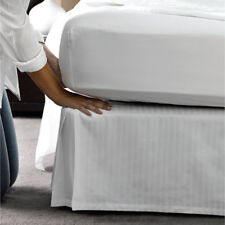 """Bed Skirt 15""""17""""19""""2 1"""" Drop Length Us Size Striped Color 1200 Tc Egyptian Cotton"""