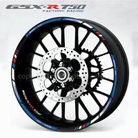 Suzuki GSX-R750 motorcycle wheel decals stickers rim stripes Laminated gsxr 750