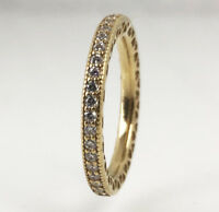 New PANDORA Hearts of Pandora Stackable Ring 14K Gold Vermeil 190963CZ