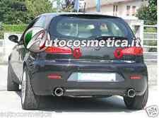cornice cromata portellone baule Alfa Romeo 147 profilo cromato portabagagli-