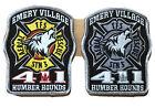 "Toronto Fire Station 411 ""Humber Hounds"" Patch Set."