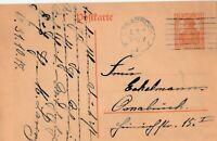 Postkarte gelaufen in  Osnabrück aus dem Jahr 1917 interessanter Text