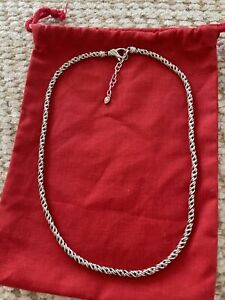 JOHN HARDY JAI STERLING SILVER WOVEN CHAIN NECKLACE