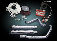 "2009 - 2013 Harley FLH Touring 3.5"" Rinehart True Duals Complete Power Pack FLHX"