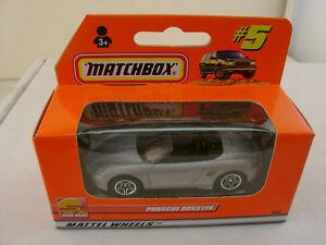 1999 MATCHBOX SUPERFAST #5 SILVER/GREY BLACK INTERIOR PORSCHE BOXSTER NEW IN BOX