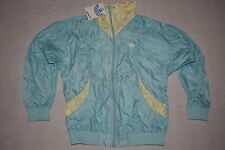 ADIDAS Windbreaker Track Top Giacca Sportiva leggermente Coat jacket Vintage nylon 36 NUOVO