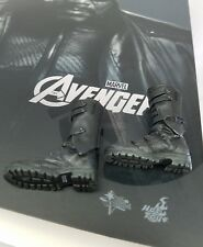 Genuine Hot Toys 1/6 MMS169 Nick Fury action figure's military boots Only! USA