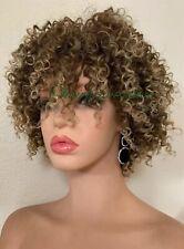 kinky-curly afro wig Ash Blonde Heat Ok Ombré