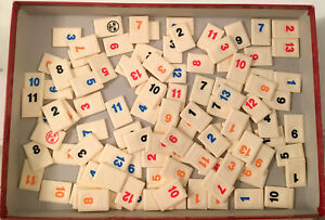 Rummikub Board Game Replacement Tiles Craft Pieces Parts 2005 Germany Jumbo