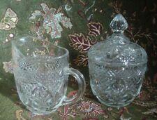 SUGAR & CREAMER Glass Luminarc Cristal D'Arques Durand