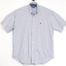 Ralph Lauren Golf Mens Shirt L Tilden Gray Oxford Cloth Button Down Short Slv