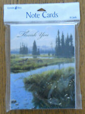 8 Leanin Tree Note Cards THANK YOU, HORSES BY MOUNTAIN STREAM GRAZING