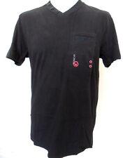 Mens V-Neck T-Shirt Cotton Black Sizes L XL 2XL 3XL Chad Duck and Cover