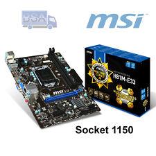 Scheda Madre Socket 1150 DDR3 MSI H81M-E33 Micro ATX USB 3.0 PC Computer