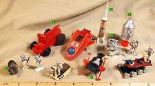 RARE, Lot of 12 Vintage Mini Space Toys 1960s-1970s (Plastic)