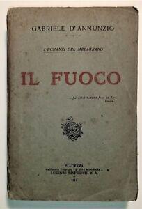G. D'Annunzio - Il Fuoco - ed. 1914 L'arte bodoniana Rinfreschi