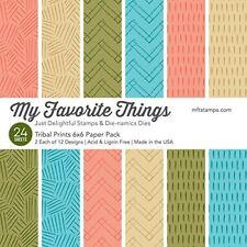 My Favorite Things - Paper Pack - Tribal Prints 6 x 6
