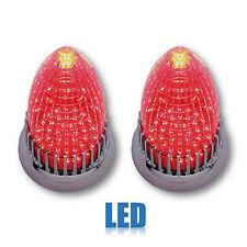 59 Cadillac Red Flush Mount LED Rear Tail Brake Light Lamp Lens Assembly Pair