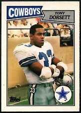 Tony Dorsett #57 Dallas Cowboys Topps 1987 Tarjeta de Fútbol Americano (C552)