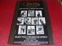 COLL.J.LE BOURHIS DANSE BALLET/ AFFICHE OPERA PARIS GARNIER 10 CHOREGRAPHES 1990