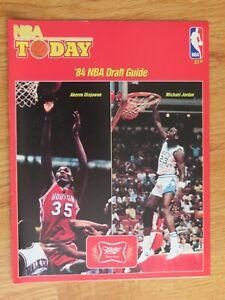 Rare NBA TODAY '84 NBA Draft Guide AKEEM OLAJUWON Rockets / MICHAEL JORDAN Bulls