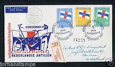 Ned. Antillen FDC E12 _2 M, met adres ; aangetekend