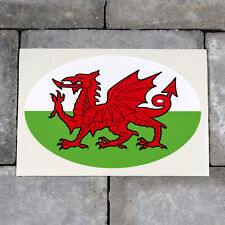 Wales Welsh Flag Oval Shape Vinyl Sticker Decal Car Van - SKU5641