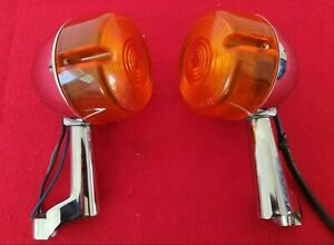 GENUINE HARLEY SPORTSTER 39mm FRONT TURN SIGNALS RELOCATION TREE MOUNTS DYNA