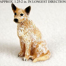 Australian Cattle Mini Hand Painted Figurine Red