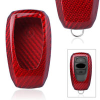 Carbon Fiber Remote Smart Key Cover Case For Subaru Legacy XV Forester Outback