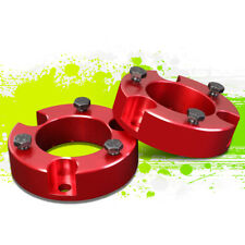 """RED 2.5"""" FRONT LH+RH STRUT TOP MOUNT LEVELING LIFT KIT FOR 00-06 TOYOTA TUNDRA"""