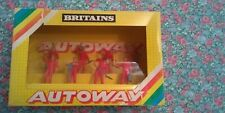 BRITAINS AUTOWAY 9800 BOX OF 8 WORKMEN - 1983, FIGURES NEVER REMOVED FROM BOX