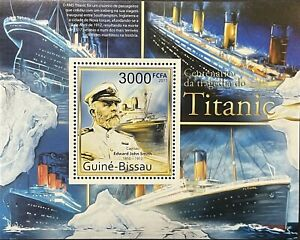 GUINEA BISSAU CENTENARY OF THE TITANIC STAMPS 2011 MNH JOHN SMITH OCEAN LINER