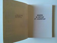 MANOIRS DE FORTUNE ET D INFORTUNE DE MICHEL DE GALZAIN DE 1968.